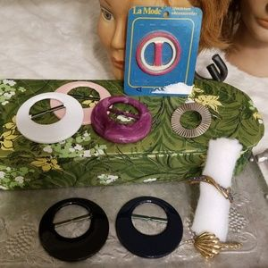 Lot 9: vintage scarf or t-shirt ring clips | clasp